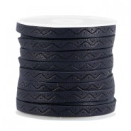 Plat imi leer 5mm Aztec Dark midnight blue